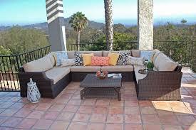 dola sunset large u shaped wicker patio sectional euroluxpatio com