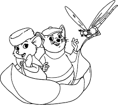 the rescuers bernard bianca evin rude coloring pages wecoloringpage
