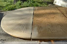 staining a table top cerused oak dining table table makeover part 1
