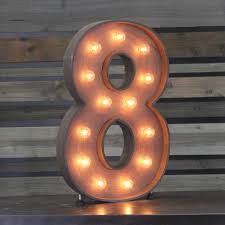 marquee numbers with lights edison marquee number 8 town country event rentals