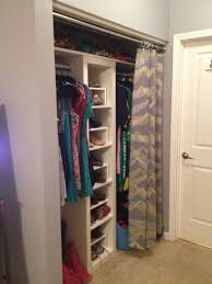 Replace Sliding Closet Doors With Curtains Best Replacing Closet Door With Curtain Tracks U Creative Home