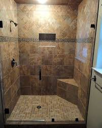 Bathroom Shower Stall Tile Designs Good Example Of A Recessed Product Niche In Tile Which Keeps The