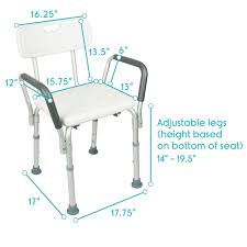 Bath And Shower Seats Amazon Com Shower Chair With Back By Vive Bathtub Chair W Arms