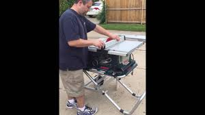 bosch gravity rise table saw stand bosch 4000 10 table saw with gravity rise stand youtube