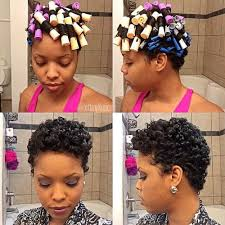 aleeping in petm rods hairstyle for the week using perm rod to create natural curls