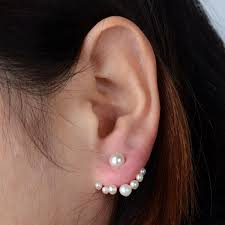 two way earrings top quality fashion european and american small imitation pearl