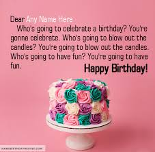 birthday wish for with name