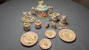 bunny tea set children s bunny tea set mercuries 1994 14 antique
