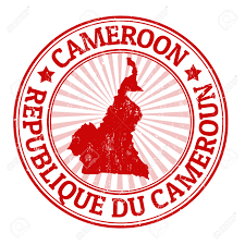 Map Of Cameroon Grunge Rubber Stamp With The Name And Map Of Cameroon Royalty Free
