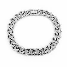 stainless steel chain bracelet images Men 39 s 12 0mm curb chain bracelet in stainless steel 9 0 jpg