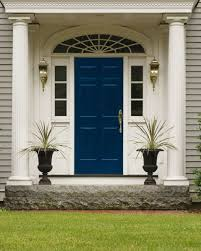 blue house white trim front door front door drama elements of style blog