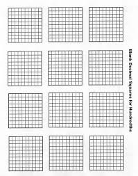 blank grid worksheet welcome to decimal squares program education math