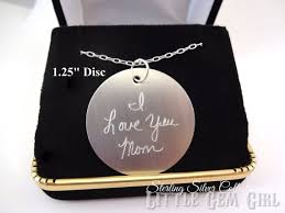 custom handwriting necklace 925 sterling silver engraved custom handwriting necklace