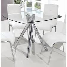 dining room glass table modern white oak dining table glass legs seats 6 8 regarding ideas 2