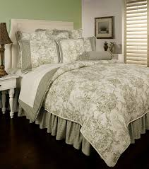 Earth Tone Comforter Sets Country Toile Sage By Sherry Kline Beddingsuperstore Com