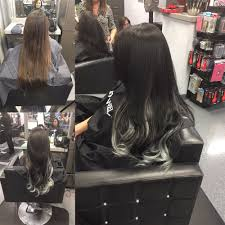 Los Angeles Hair Extensions by Made Her Base Dark And Added 22 Inch Custom Ombré Colored