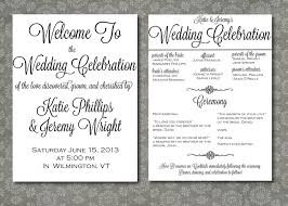 printed wedding program script elegance by writtenindetail