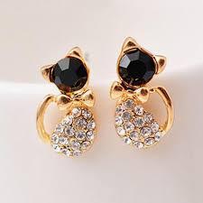 cat stud earrings 2018 ek120 pendientes new brinco fashion animal bijoux