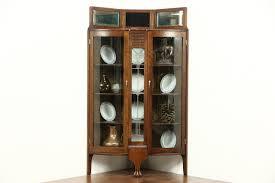 Oak Curio Cabinets Curio Cabinet Corner Curionets Oak Broyhillnet Pulaski Golden