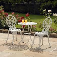 Garden Bistro Chairs Fancy White Outdoor Bistro Table Breakfast Nook Pedestal Table