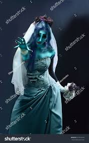 zombie bride spirit halloween halloween sorrow scene corpse bride under stock photo 327514010