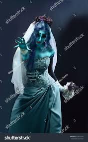 halloween sorrow scene corpse bride under stock photo 327514010