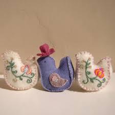 hand embroidered bird pin cushions randi sal finishes