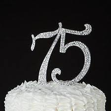 s cake topper number 75 cake topper for 75th birthday or anniversary silver
