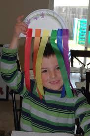 kids craft streamer rainbows happiness is homemade