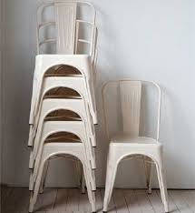 cream metal dining room chairs set of 2 antique farmhouse