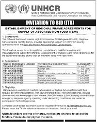 to bid invitation to bid from unhcr