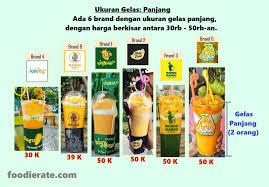 Mango Bomb 7 perbedaan dari 9 brand raja jus mangga kekinian king mango thai