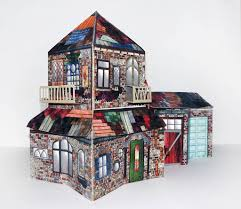 3d pop up house in a book sculpture by crafty creature studio