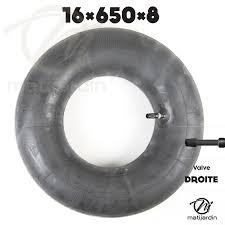 chambre à air droite chambre à air spéciale motoculture 16 x 650 x 8 valve droite par