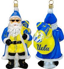 collegiate santa with sunglasses ucla ornament