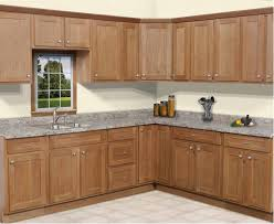 Modern Wood Kitchen Cabinets Oak Shaker Cabinet Doors With Oak And Stained With Differing