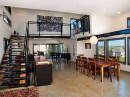 Contemporary Dining Rooms by Contemporary Dining Room With Sandstone Tile Floors By Vfla