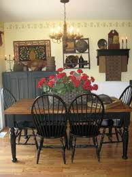 Primitive Dining Room Tables | a lovely dining room filled with period 18 19th century american