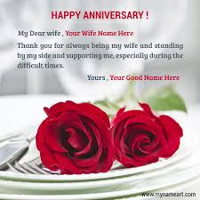 Wedding Wishes Online Editing Anniversary Wishes With Name Editing Pic For Wife Wishes