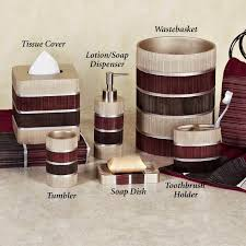 black and red bathroom accessories bathroom being different and