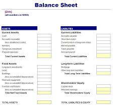 Excel Balance Sheet Template Free Free Simple Balance Sheet Template Finance Balance