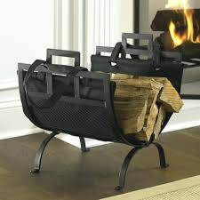 fireplace log storage rack with built in box firewood ge holder