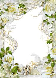 wedding flowers png beautiful transparent soft white wedding photo frame with white