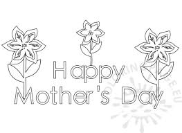 happy mothers day coloring pages for kids coloring page