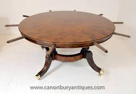 Antique Round Oak Pedestal Dining Table Extending Table Antique Dining Room