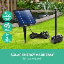 5w solar powered fountain outdoor fountains submersible water pump