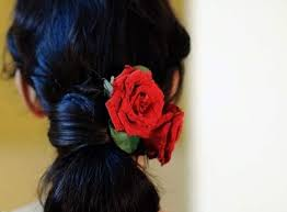 flower hair bun simple hair buns for saree