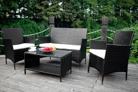 Outdoor Wicker Patio Furniture Sets Merax 4 Cushioned Outdoor Wicker Patio Set Review My