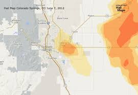 Aurora Colorado Map by Hail Storm Map Of Colorado Springs Colorado June 7th 2012
