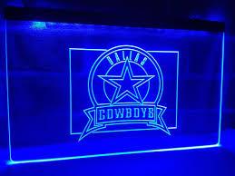 Dallas Cowboys Wall Decor Dallas Cowboys Led Sign Sports Man Cave Wall Hanging U2013 Light Signs